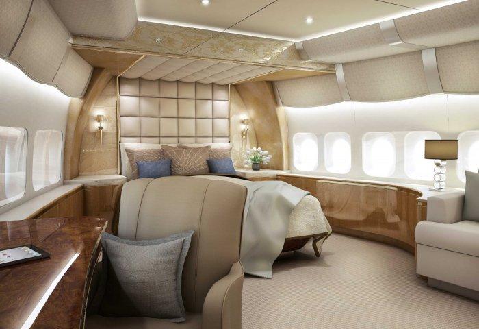飞在天上的豪华别墅:探秘波音 747-8 私人飞机