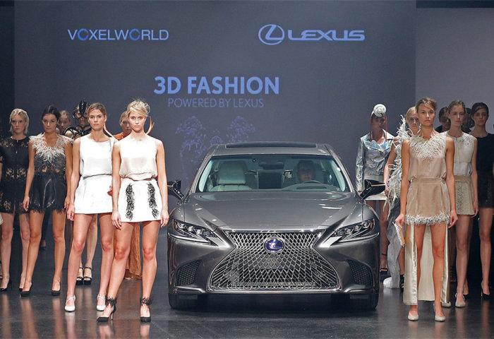 豪华汽车雷克萨斯与德国3D打印公司合办了一场时装秀