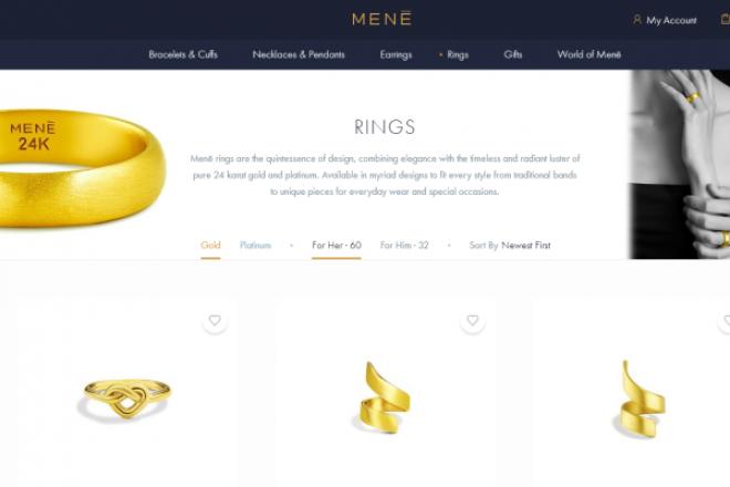 让纯金首饰定价完全透明!专做24K金珠宝首饰的互联网品牌Menē完成2100万美元 A轮融资