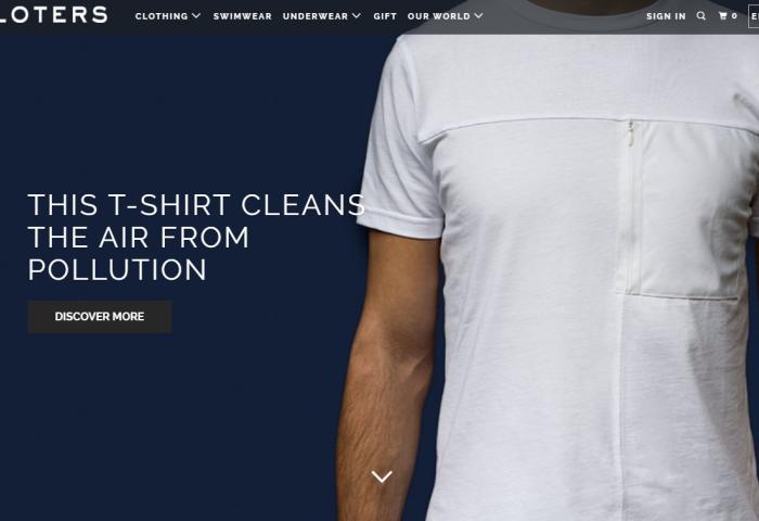 意大利服装初创公司 Kloters 推出能够清洁周围空气的智能T恤 RepAir