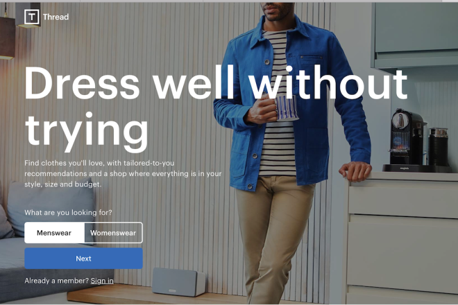 英国男士个人造型和时尚电商平台Thread 完成2200万美元B轮融资,H&M集团旗下基金参投