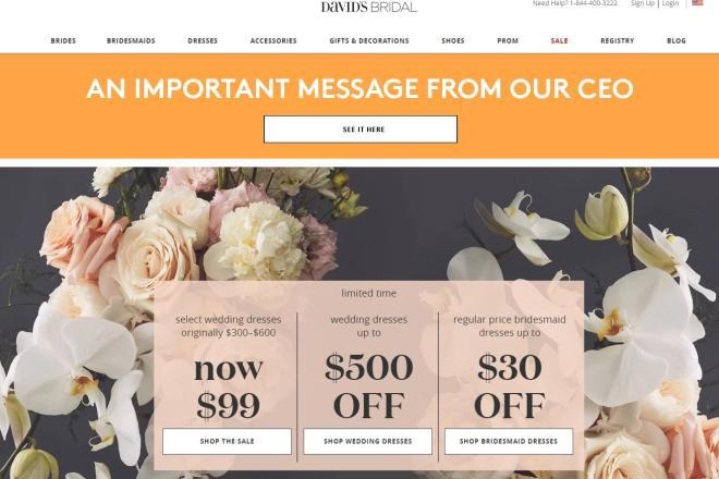 结婚率持续下降,美国老牌婚纱礼服公司 David's Bridal 正式申请破产保护