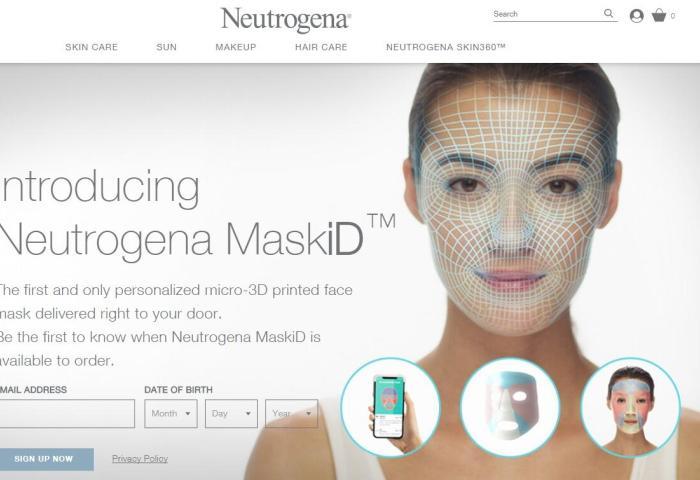 Neutrogena(露得清)推出全球首款3D打印定制面膜Mask iD