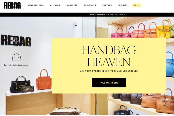 美国二手奢侈品包袋寄售网站 Rebag 宣布完成2500万美元C轮融资
