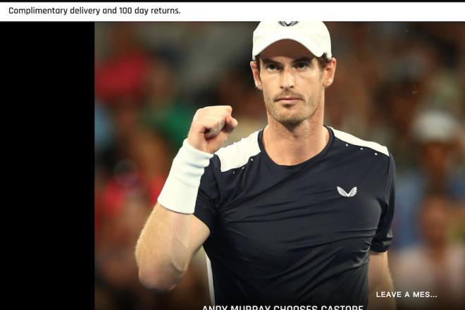 英国高端男士运动服装品牌 Castore 完成320万英镑新融资,网球名将穆雷参投