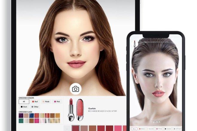 """法国娇兰与数字美妆科技公司Voir 合作,应用""""增强现实""""技术提供虚拟试妆体验"""