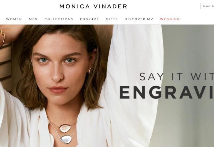 英国轻奢珠宝品牌 Monica Vinader创立10周年,上财年销售同比增长20%至4289万英镑