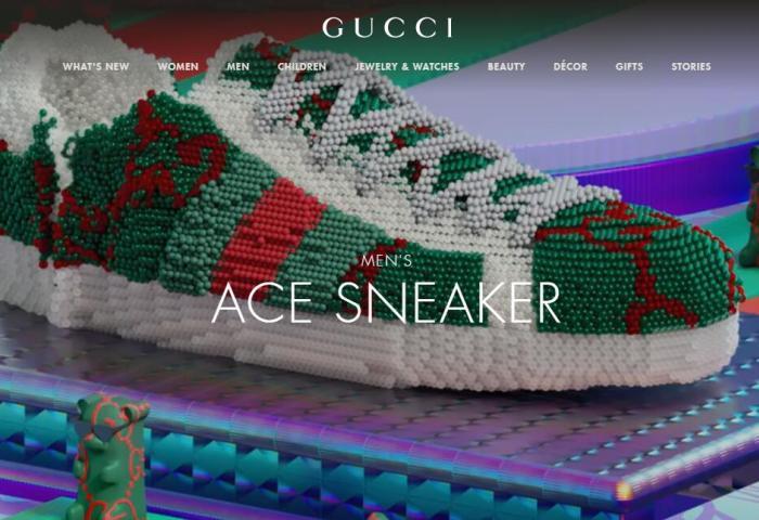 与科技创业公司合作,Gucci 品牌应用程序新增 AR虚拟试鞋功能