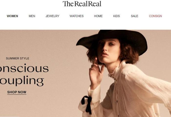 美国二手奢侈品电商平台 The RealReal 上市首日大涨44.5%,市值 24亿美元