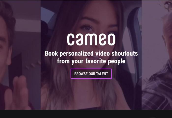 """让名人为你录制""""视频贺卡""""!Cameo完成5000万美元B轮融资,目标将""""名人库""""扩至500万人"""