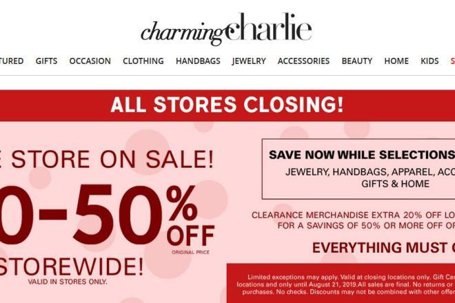 美国时尚配饰零售商 Charming Charlie 第二度申请破产,旗下门店或将全部关闭