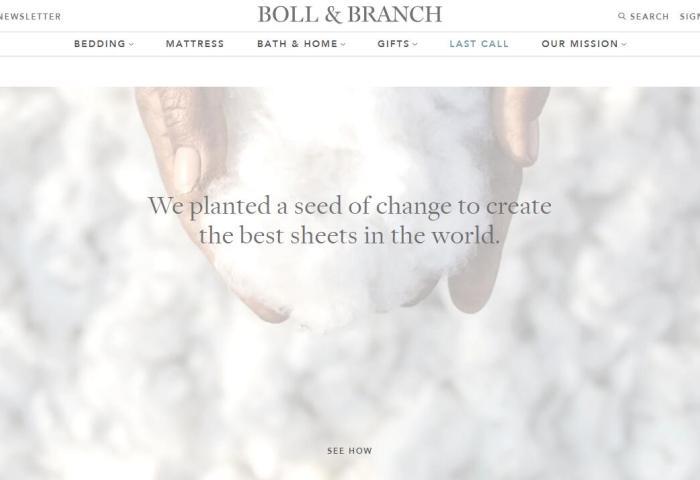 美国可持续家纺品牌 Boll & Branch 获 L Catterton 1亿美元战略投资