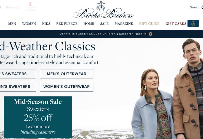 传:两百年历史的美国老牌 Brooks Brothers 或将出售