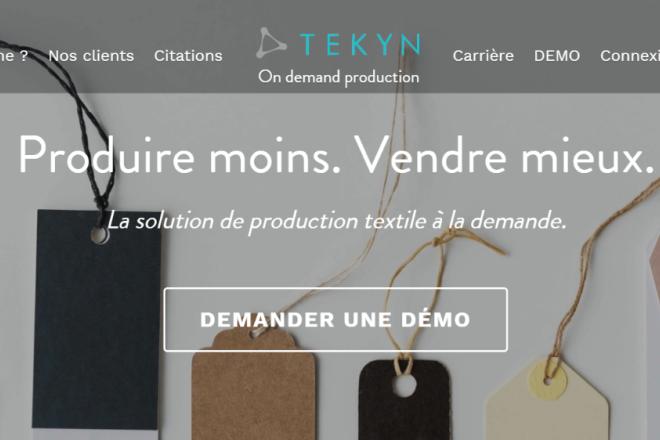 """将服装生产""""碎片化"""",法国初创公司 TEKYN 立志帮助服装品牌解决库存顽疾"""
