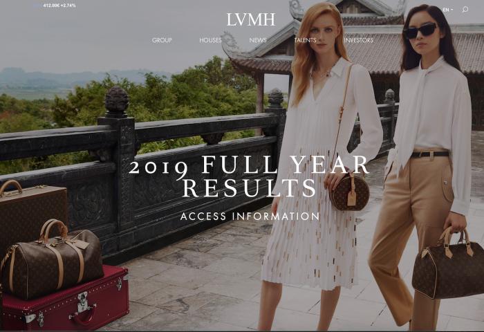 LVMH 最新年度财报再创新高,集团主席谈中国疫情,展望2020
