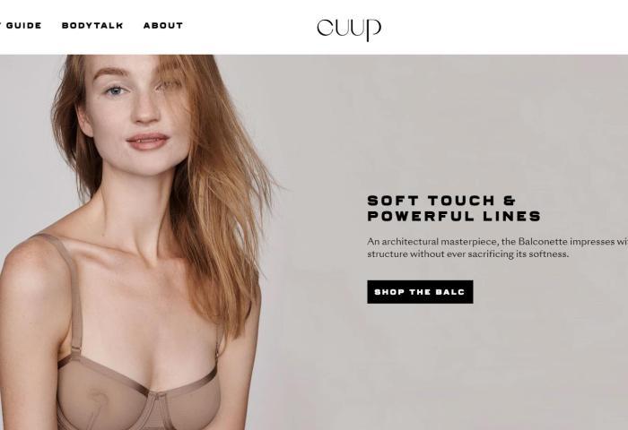 用视频帮你选内衣,互联网内衣品牌 Cuup 完成 1100万美元A轮融资