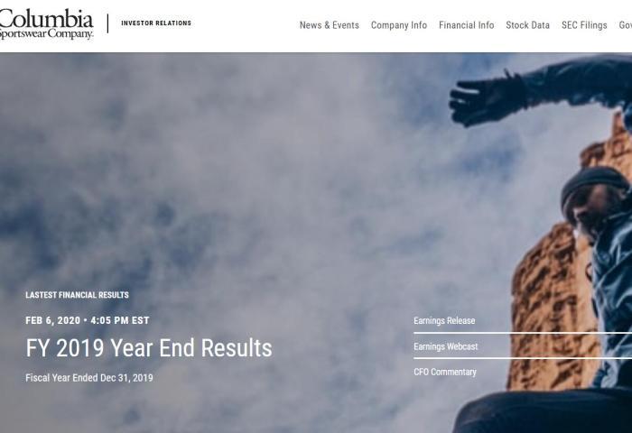 美国户外服饰集团 Columbia 2019财年销售额首次突破30亿美元大关