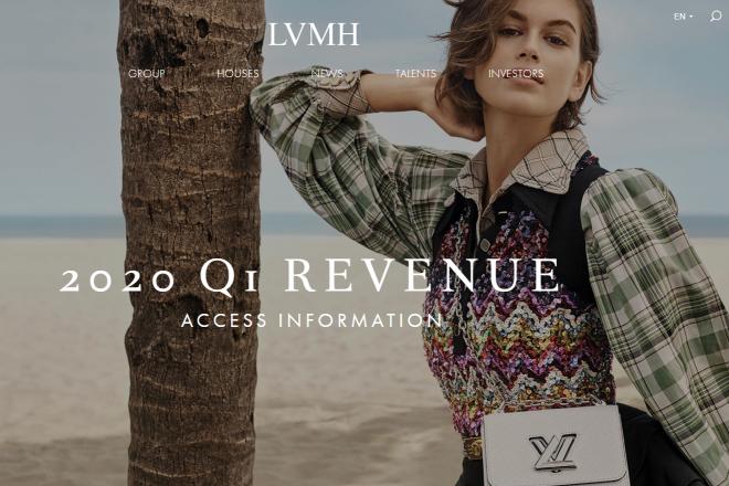 LVMH集团一季度销售额同比下滑15%,线上业务增长强劲