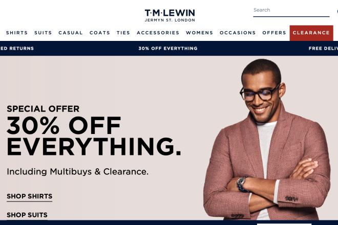 英国男装零售商 TM Lewin 被私募基金 SCP收购,年销售 1.2亿英镑
