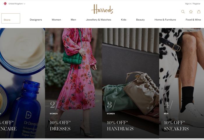 英国奢侈品百货公司Harrods 首度开设奥特莱斯门店,处理因疫情积压的库存