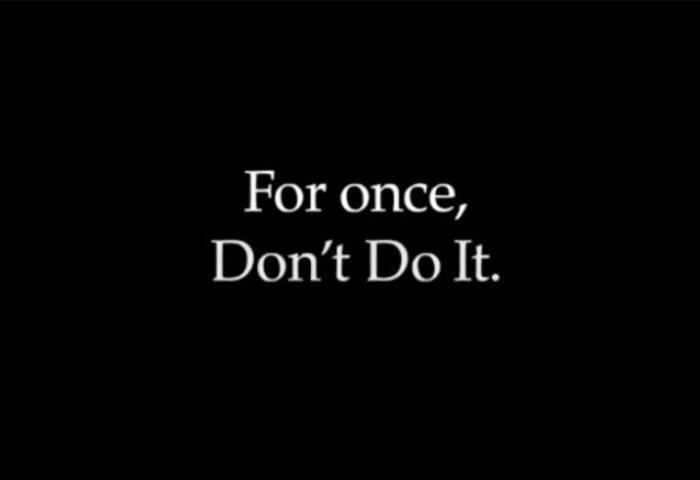 "Nike 发声:将品牌口号从""Just Do it""改为""Don't Do It"""