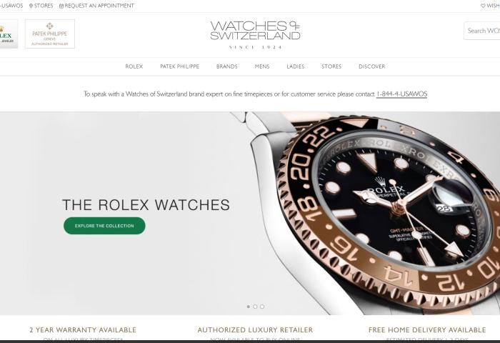 英国奢侈钟表零售商 Watches of Switzerland 疫情期线上销售额增长45.8%