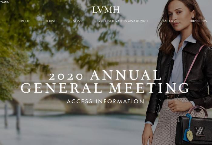 "LVMH集团举行线上年度股东大会,预计今年""疫情的复苏将是缓慢的"""